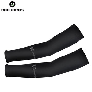 ROCKBROS Cycling Running Arm Warmers UV Protect CoolMax Arm