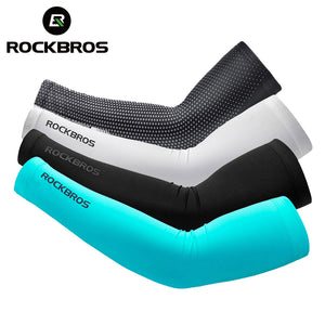 ROCKBROS Ice Fabric Breathable UV Protection Running Arm Sleeves