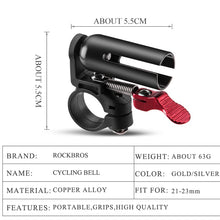 Load image into Gallery viewer, ROCKBROS MTB Road Bicycle Bike Bell Cycling Handlebar Copper