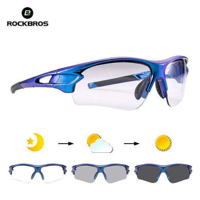 ROCKBROS New Photochromic Glasses Cycling Gradient Frame UV400