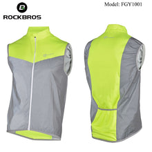 Load image into Gallery viewer, ROCKBROS Reflective Safety Vest Cycling Windproof
