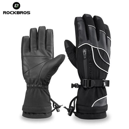 ROCKBROS Thermal Waterproof Skiing Snowboard  Motorcycle Windproof -30 Degree