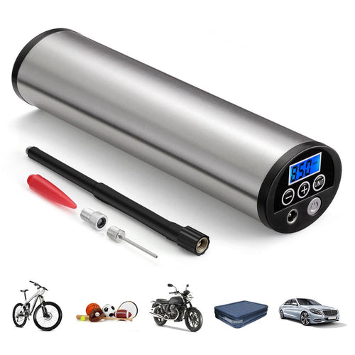 Rechargeable Electric Bicycle Pump  150 PSI For Bicycles With LCD Display