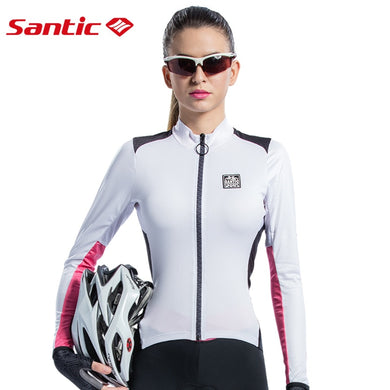 SANTIC Women Cycling Jersey Full Long Sleeve Triathlon Mtb Road Bicycle Jersey