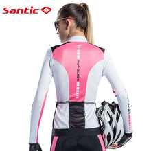 Load image into Gallery viewer, SANTIC Women Cycling Jersey Full Long Sleeve Triathlon Mtb Road Bicycle Jersey