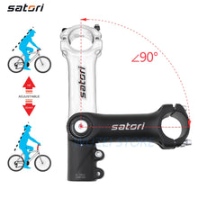 Load image into Gallery viewer, SATORI Adjustable Height Riser Stem Bicycle 31.8mm Mountain Bike Aluminum