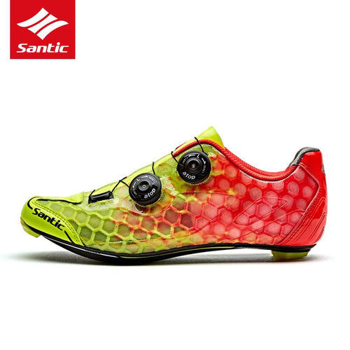 Santic Cycling Shoes Men Carbon Fiber Road Bike Shoes