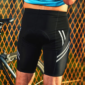Santic Men Cycling Padded Shorts Coolmax 4D Pad