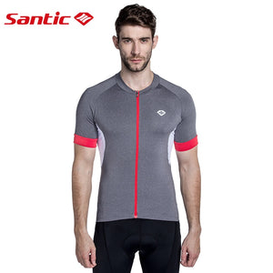 Santic Men Cycling Short Jersey Pro Fit SANTIC N-FEEL High Tech Fabric