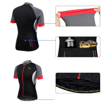 Load image into Gallery viewer, Santic Men Cycling Short Jersey Pro Fit SANTIC N-FEEL High Tech Fabric
