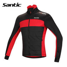 Load image into Gallery viewer, Santic Winter Cycling Jacket Windproof Warm Thermal Fleece