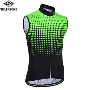 Siilenyond Flour Green Sleeveless Cycling Vest