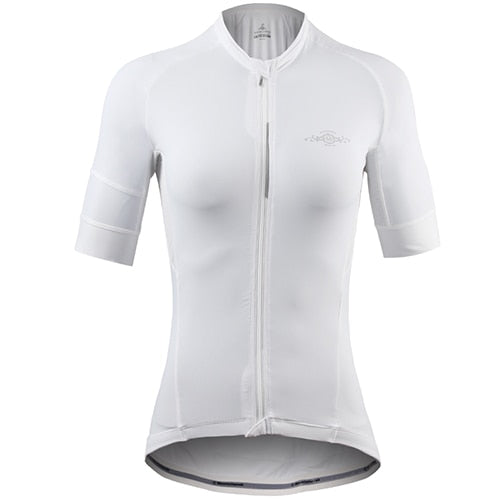 Summer Ice Silk Cycling Jersey Spring Women Short Sleeved Riding Bicycle  g