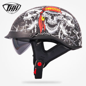 THH T72 half helmet motocross with internal sunglass Popular Style