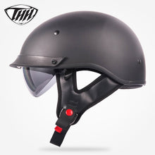 Load image into Gallery viewer, THH T72 half helmet motocross with internal sunglass Popular Style