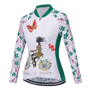 Teleyi Pro Team Women Autumn Cycling Jersey Long Sleeve Breathable