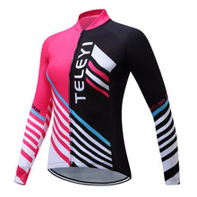 Load image into Gallery viewer, Teleyi Pro Team Women Autumn Cycling Jersey Long Sleeve Breathable