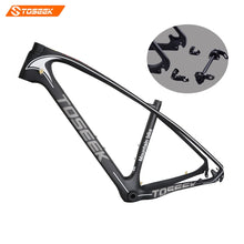 Load image into Gallery viewer, Toseek Carbon Mtb Frame 27.5/29 ER Carbon Fiber Frame BB30/BSA