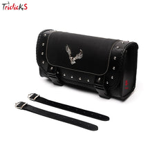 Load image into Gallery viewer, Triclicks Universal Eagle PU Leather Saddle Bags Motorcycle