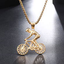 Load image into Gallery viewer, US7 Bike Pendant men Necklace Stainless Steel Cycling Necklace  Charms Body