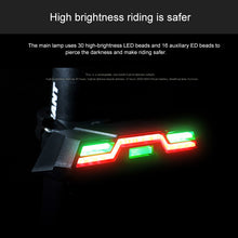 Load image into Gallery viewer, USB Bike Safety Taillight 3 Colors Bicycle Rear Lamp with Built-in 2000MAH