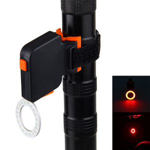 USB Rechargeable Bicycle Rear Light Red COB LED Taillight Safety