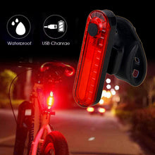 Load image into Gallery viewer, USB Rechargeable Bike Taillight LED Bicycle Light Waterproof MTB