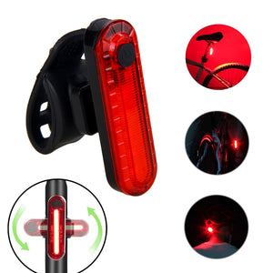 USB Rechargeable Bike Taillight LED Bicycle Light Waterproof MTB