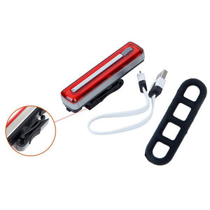 USB Rechargeable COB Bike Taillight 8 Modes Cycling Rear Light