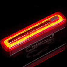 Load image into Gallery viewer, USB Rechargeable COB Bike Taillight 8 Modes Cycling Rear Light
