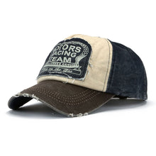 Load image into Gallery viewer, Vintage Washed Denim Cotton Distressed Motorcycle Caps
