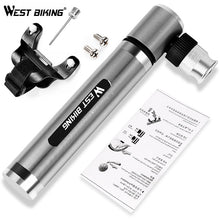 Load image into Gallery viewer, WEST BIKING 89G Portable Mini Bicycle Pump 160 PSI High Pressure