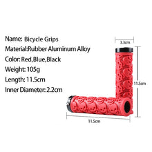 Load image into Gallery viewer, WEST BIKING Bicycle Anti-slip Rubber Skull Handlebar Grips