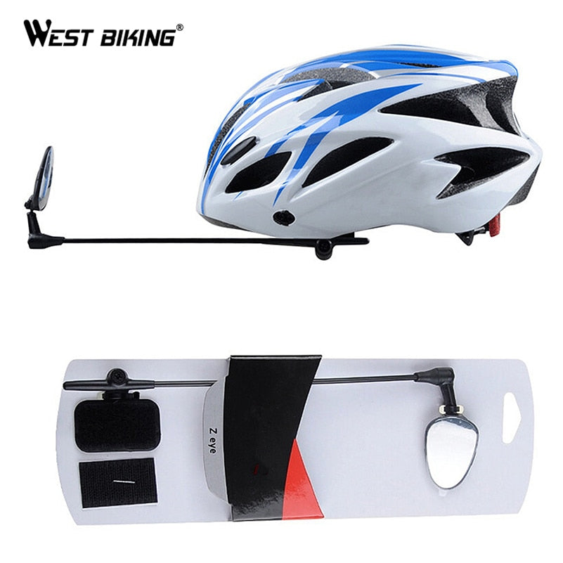 WEST BIKING Bicycle Helmet Mirror Flat Lightweight 360 Degree Bike Helmet