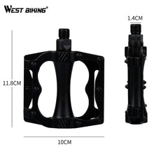 Load image into Gallery viewer, WEST BIKING Bike Aluminum Alloy Plastic Pedals Durable Hollow