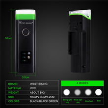 Load image into Gallery viewer, WEST BIKING Bike Front Light Induction Bicycle Bright Light USB Charging Flashlight