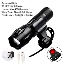 Load image into Gallery viewer, WEST BIKING Bike Light Ultra-Bright Zoomable 240 Lumen Q5 200M USB Rechargeable