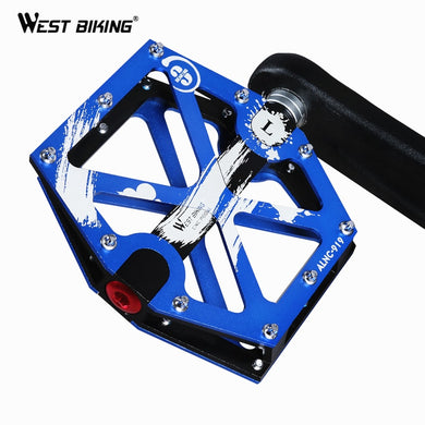 WEST BIKING Bike Pedals For Road MTB Bicycle 3 Bearings Anti-slip