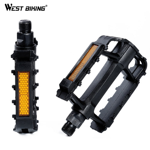 WEST BIKING Bike Pedals Universal Bicycle Non-Slip Plastic Pedals Lightweight