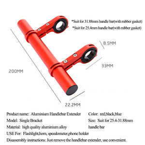 WEST BIKING Double Handlebar Extender 25.4/31.8MM Expander