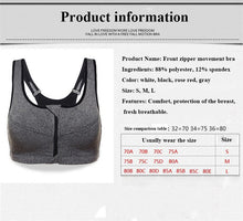 Load image into Gallery viewer, WEST BIKING Front Zipper Removable Pads Fitness Sports Bra
