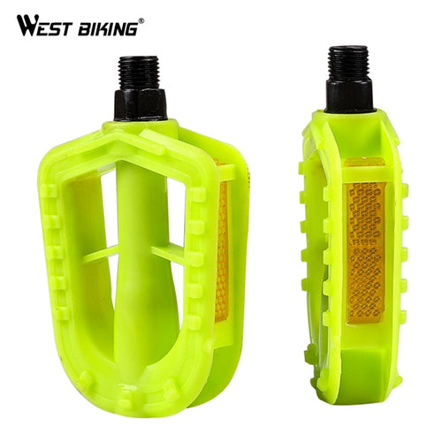 WEST BIKING Kids Bike Pedals Childers Bicycle 12MM Anti-slip Plastic Replacment Pedals