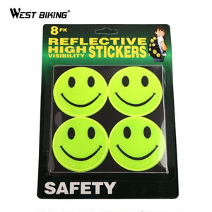 WEST BIKING Super Bright Bicycle Night Cycling Safety Reflective Stickers