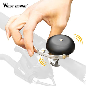WEST BIKING Vintage Mini Bicycle Bell Ultralight Copper Safety Sound