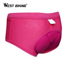 Load image into Gallery viewer, WEST BIKING Women Cycle Underwear 3D Padded Bicycle