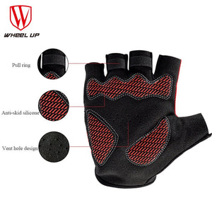 WHEEL UP Racing Sport Cycling Gloves Half Finger MTB Bicycle Gloves Gel Pad