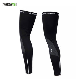 WOSAWE Unisex Thermal Fleece Cycling Leg Warmers Winter
