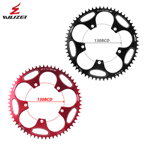WUZEI 130 BCD  50/52/54/56/58/60T Alloy  Chain Wheel for Shimano