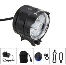 Load image into Gallery viewer, XM-L T6 LED Front Bicycle Headlight Bike Headlamp+6400mAh Rechargeable Battery +Charger