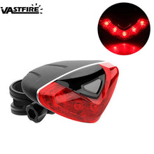 Load image into Gallery viewer, Waterproof  Bicycle Tail Mini LED Rear Light 5 Modes Safety